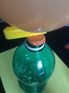 ballon sur bouteille