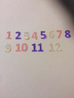chiffres coloriés
