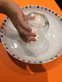 couvrir avec verre