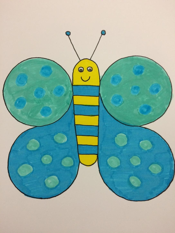 Tuto J Apprend à Dessiner Un Papillon Maternelle