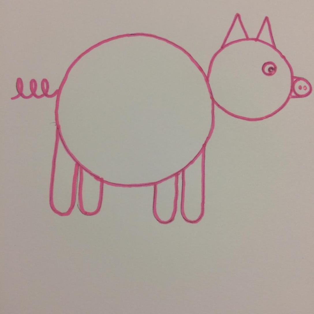 Tuto J Apprend à Dessiner Un Cochon Maternelle