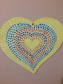 coeur pointillisme