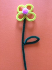 fleurs fil chenille